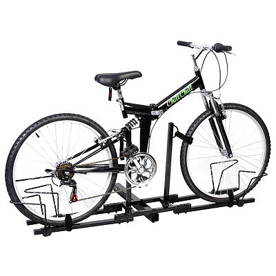 Bike 2 Receiver Hitch (2 Bike Bicycle Carrier Hitch Receiver 2''  Heavy Duty Mount Rack Truck)