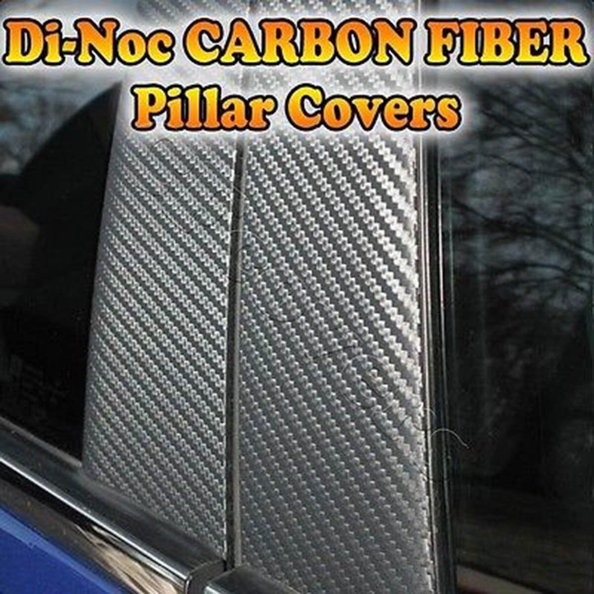 4pc Set Door Di-Noc Carbon Fiber Pillar Posts for Volkswagen Jetta 11-15 Sedan