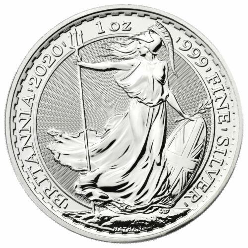 2020 Great Britain Silver Britannia 1 oz Silver £2 Coin GEM BU SKU59528