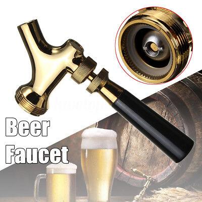 Unadjustable Beer Tap Faucet Draft W Brass Lever Handle For Kegerator