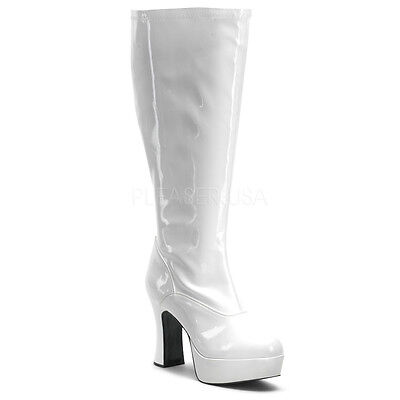 Sexy WIDE WIDTH WIDE CALF White 4