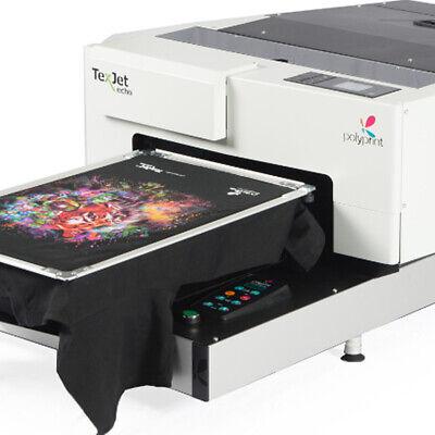 Texjet Echo Dtg Digital T-shirt Printer Full Color White Direct To Garment Cmyk