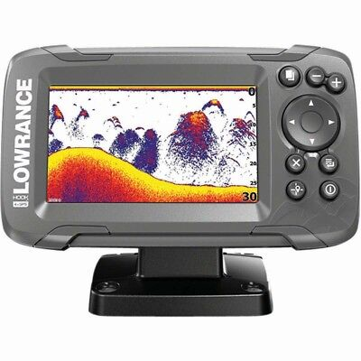 A0336 Echolot Lowrance HOOK2 4X GPS Fishfinder Karpfenangeln 200 KHZ Bullet (Lowrance Gps Fishfinder)
