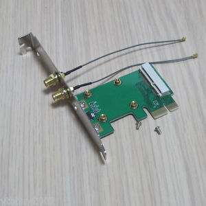 2in1 full + half size wireless wifi mini pci-e card to pci-e pci express adapter