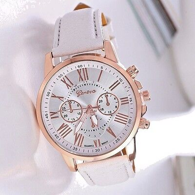 Reloj de mujer Watche Leather Stainless women Steel Analog Quartz Wrist Watch