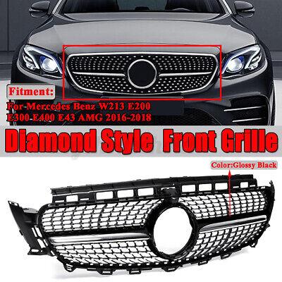 Kühlergrill Grill Diamant Stil Schwarz für Mercedes Benz W213 E43 AMG