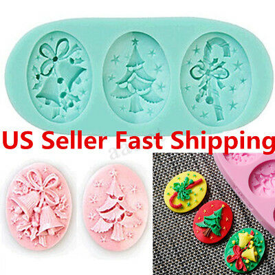 Christmas Tree Silicone Fondant Cake Mold Soap Chocolate Candy Decorating  US Christmas Tree Cake Molds