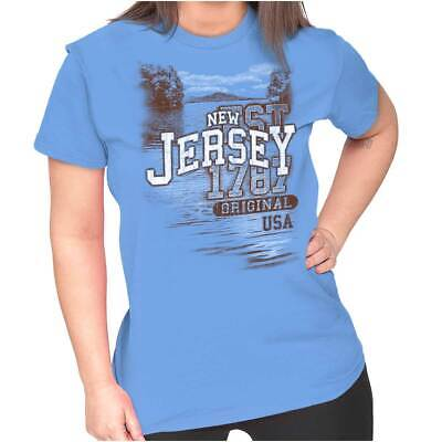 New Jersey Garden State Camping Souvenir USA Tees Shirts Tshirts For Womens