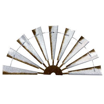 36 inch Primitive Half Windmill Country Wall Decor Rusty Galvanized Metal Barn