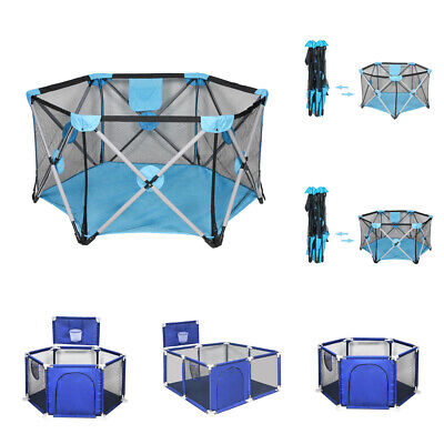 Baby Play Yard Playpen Safety Activity Play Center Infant Indoor Outdoor Folding