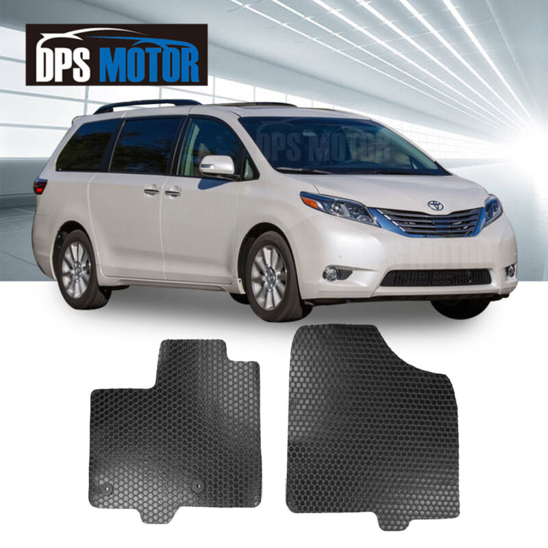 ToughPRO Gray Rubber Heavy Duty Custom Floor Mats For 2004-2010 Sienna 7 Seater