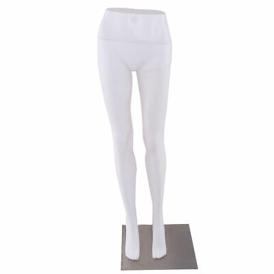 41 Female Half Body Legs Mannequin Plastic Pants Form Display W Metal Base New