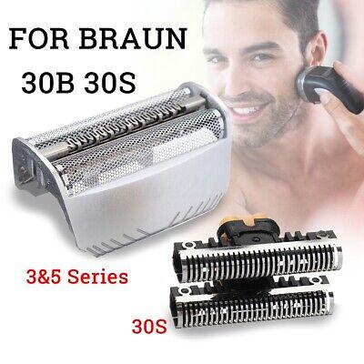 Braun Razor Blades (Shaver Razor Cutter Blade + Foil Replacement For Braun 30S/30B 7000 4000 )