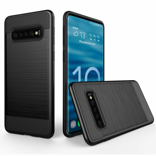 Hybrid Brushed Hard Case For Samsung Galaxy S20 Ultra S10 Plus S10e Back Cover - $7.31