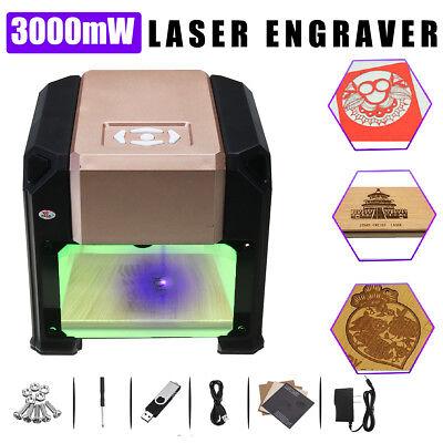 3000mw Desktop Diy Logo Mark Cnc Engraver Cutter Printer Laser Engraving Machine