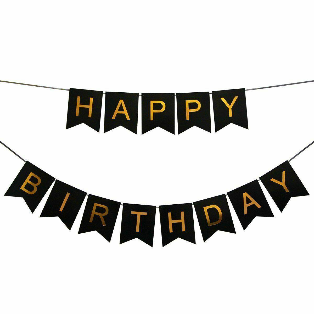 Happy Birthday Balloons Banner Balloon Bunting Party Decoration Hanging Garland