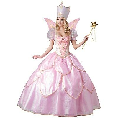Deluxe Fairy Godmother Costume Adult Glinda Wizard of Oz Halloween Fancy Dress