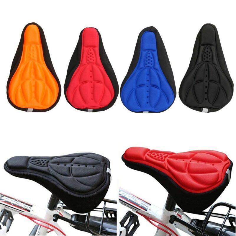 BIKE BICYCLE 3D GEL SADDLE SEAT SOFT COMFORT PAD CUSHION COVER CYCLING MTB ROAD