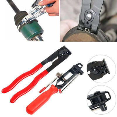 Cv Joint Boot Clamp - 2pcs Auto Cv Joint Boot Clamps Pliers With Cutter Ear Type Banding Tool Set