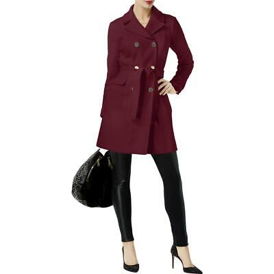INC Womens Red Fall Belted Warm Trench Coat Outerwear M BHFO 1924