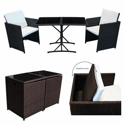 SVITA POLY RATTAN Sitzgruppe Essgruppe Balkon Sofa-Garnitur Gartenmöbel Lounge