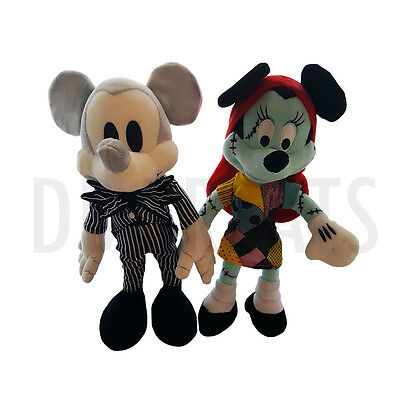 Disney Parks The Nightmare Before Christmas Mickey Mouse Minnie Mouse Plush Set