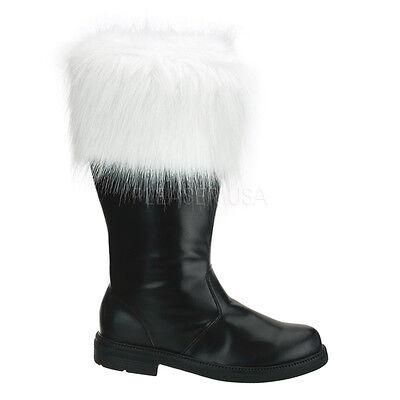 Costume Boots For Men (Black Santa Claus Kris Kringle Christmas Mall Costume Boots Mens size 12 13)