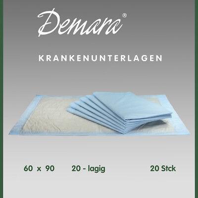 Krankenunterlagen 60x90•20-lagig Wickelunterlagen Matratzenschutz Betteinlagen