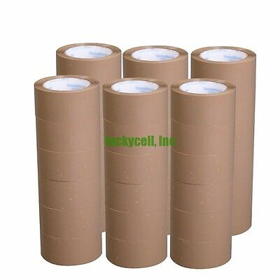 6 Rolls 2 X 55 Yards 165 Carton Sealing Brown Packing Shipping Box Tape New