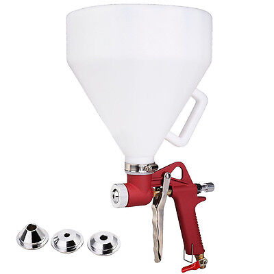 Air Hopper Spray Gun Paint Texture Tool Drywall Wall Painting Sprayer w/3 Nozzle
