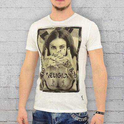 - Religion Clothing T-Shirt Herren Bad Boys weiss Männer Shirt Mens Tee white