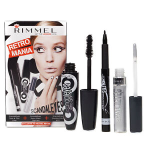 Rimmel Scandaleyes Glam Mascara Thick And Thin Eyeliner & Eyeshadow Gift Set