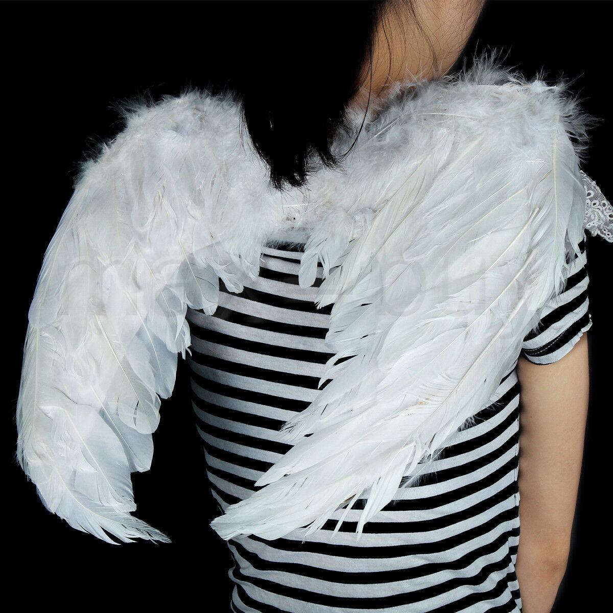 ADULTS KIDS FEATHER Angel Fairy Wings Fancy Costume Accessory ...