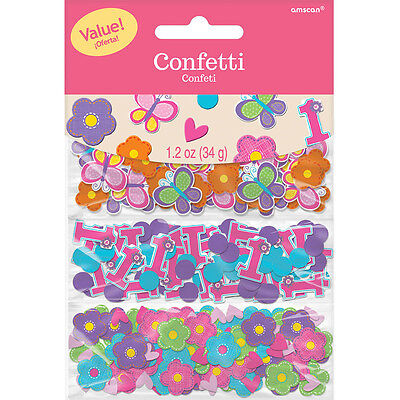 Sweet Pink Girl's 1st Birthday Party Confetti Sprinkles Triple Pack