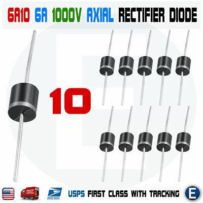 10pcs 6a10 1000v 6a 1kv Axial Rectifier Diode 6 Amp Solar Panel Usa
