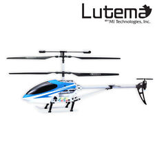 NEW Lutema Mid-Sized 3.5CH Remote Control Helicopter Blue GREAT CHRISTMAS GIFT