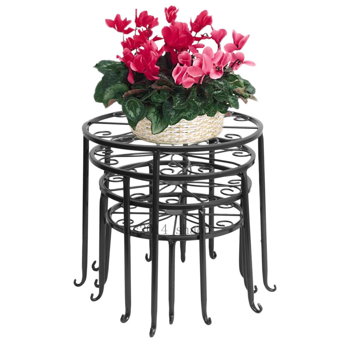 metall blumen regale pflanzenst nder tisch pflanzentisch. Black Bedroom Furniture Sets. Home Design Ideas