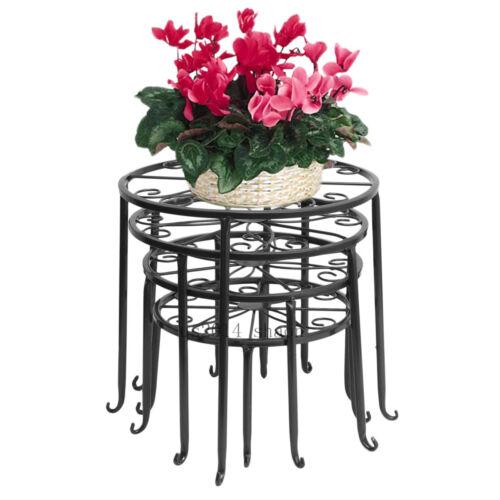 4 set blumentreppe pflanzentreppe blumenbank blumenregal garten blumenst nder. Black Bedroom Furniture Sets. Home Design Ideas
