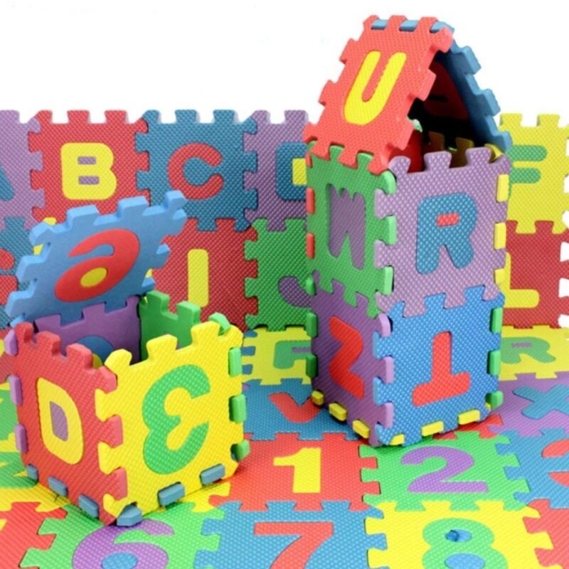 36 PCS Baby Kids Alphabet Number Foam Puzzle Mats Teaching Tools Toy for Room