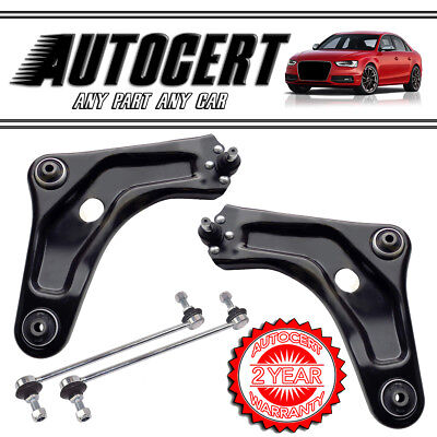 PEUGEOT 207 2006> FRONT LOWER SUSPENSION CONTROL ARMS / WISHBONES WITH LINK BARS