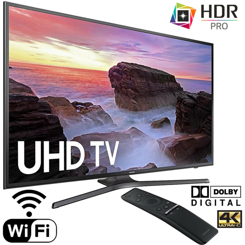 "Samsung 65"" Class (64.5"" Diag.) LED 2160p Smart 4K Ultra HD TV Gray UN65MU6300FXZA"