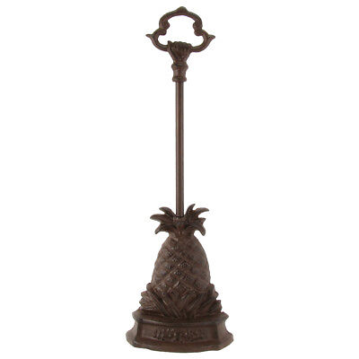 Heavy Cast Iron Pineapple Doorstop Door Porter Stop Carry Handle Home Decor Gift