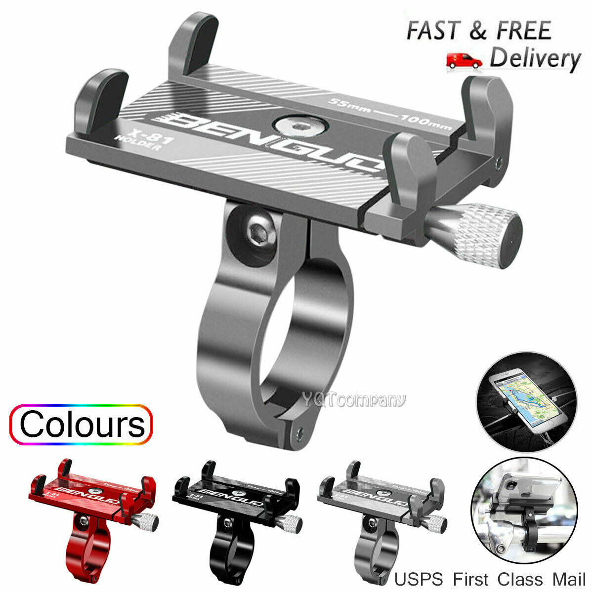 US Aluminum Motorcycle Bike Bicycle Holder Mount Handlebar F