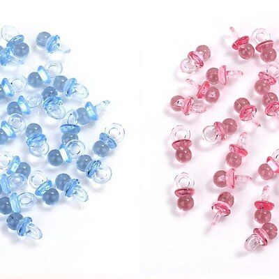 Mini Pink and Blue Acrylic Baby Pacifiers Table Scatter Baby Shower Decorations](Pink And Blue Table Decorations)