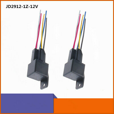 Motor Relay Switch Power Jd2912-1z-12v Dc 40a 5 Pins Spdt Harness Socket Relays