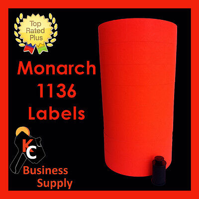 Red labels for Monarch 1136 price gun, one sleeve ink roller included