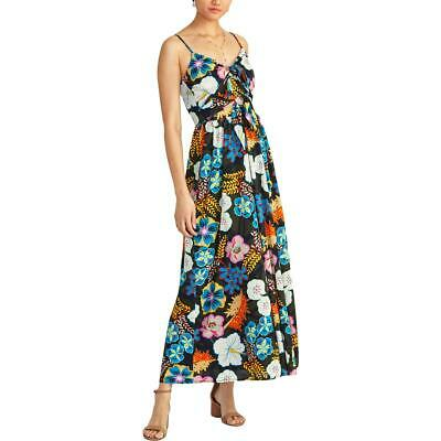 Rachel Rachel Roy Womens Magnolia Floral Double Tie V-Neck Maxi Dress BHFO 0699