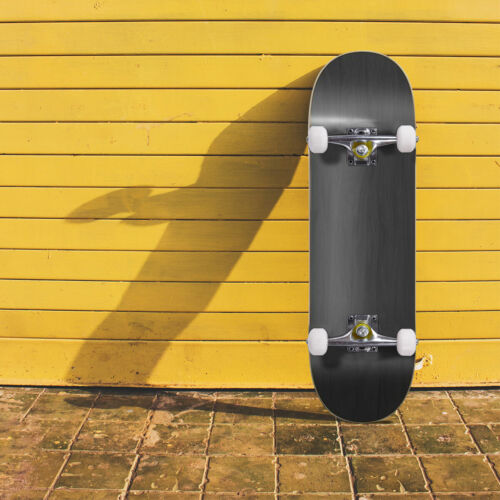 "HOGYME Blank Complete Skateboard Stained BLACK 7.75"" Skateboards - Ready to ride"