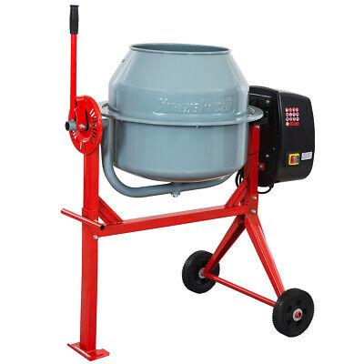 4 Cu. Ft. Portable Electric 500w Concrete Cement Mixer Barrow Mixing Mortar Grey
