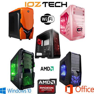 CUSTOM BUILT GAMING DESKTOP PC AMD QUAD 4.0GHz BUILD YOUR OWN PC COMPUTER BUTGET